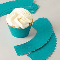 Glitter Scalloped Cupcake Wrappers by Anthropologie