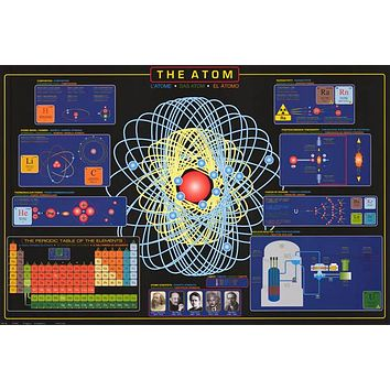 The Atom Education Poster 24x36