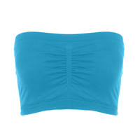 Cinched Front Tube Top Turquoise