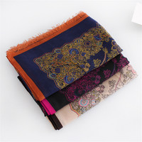 Beautiful flowers cashmere shawl large thin female models Four Seasons General versatile scarves women scarf