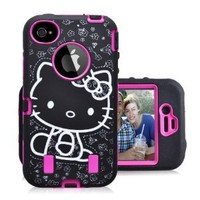 Gmatrix Hello Kitty Series Hybrid Case for Iphone 4 & 4s - Retail Packaging - Pink