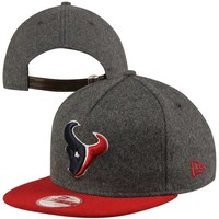 New Era Houston Texans 9FIFTY Classic Melt A-Frame Adjustable Strapback Hat - Red/Charcoal