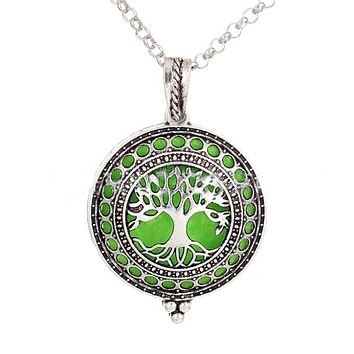 2-pc Aromatherapy Diffuser Locket Necklace