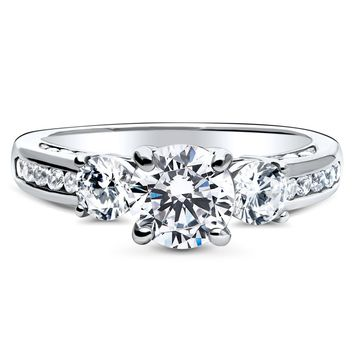 Sterling Silver Round CZ 3-Stone Ring 1.73 CTWBe the first to write a reviewSKU# r1169-01
