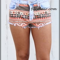 Daisy Duke Aztec Shorts - Filly Flair