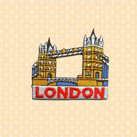 London Tower Bridge Iron On Patch Enbroidered Sew On Apllique DIY Jeans Patches