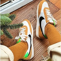 Nike Air Daybreak SP Cool Grey OG Daybreak Series Waffle Retro Casual Sports Jogging Shoes White&Yellow