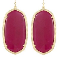 Danielle Earrings in Fuchsia Jade - Kendra Scott Jewelry