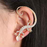 Fashion Crystal Clip On Earrings For Women