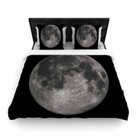 "Alias ""Luna"" Black Gray Woven Duvet Cover"