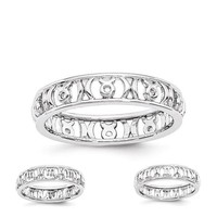 Sterling Silver Stackable Expressions Zodiac Ring - Various Signs