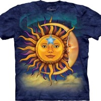 The Mountain Men's Sun Moon T-Shirt, Blue/Purple, X-Large