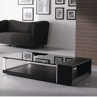 Scandinavia Furniture Metairie New Orleans Louisiana offers Contemporary & Modern Furniture for your Living Room - LIFE - MODEL 883 RECTANGLE WENGE COFFEE TABLE - ScandinaviaFurniture.com