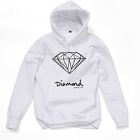 Diamond Supply Co White Hot Fashion Men's Spring Autumn Hoodie Pullover Streetwear Hooded Sweatshirt