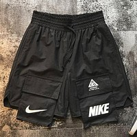 NIKE ACG Summer New Fashion Letter Hook Shorts Black