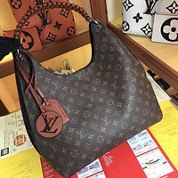 LV Louis Vuitton M53188  Women's Tote Bag Handbag Shopping Leather Tote Crossbody Satchel 35x40x17cm