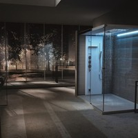 Duralight® shower cabin / turkish bath LIGHT XXL by TEUCO GUZZINI | design Lenci Design