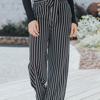 See Me In Stripes Pant, Black