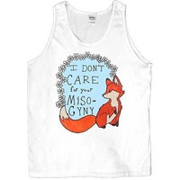 Feminist Fox Doesn't Care For Your Misogyny -- Unisex Tanktop
