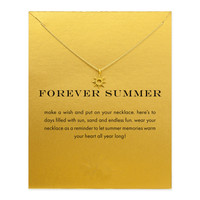Hot Sale forever summer radiant sun necklace gold plated Pendant necklace Clavicle Chains Statement Necklace Women Jewelry