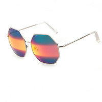 Fashion hexagon prismatic sunglass