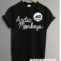 Hot Arctic Monkeys Shirt The Double Symbol Printed on White and Black t-Shirt For Men Or Women Size X 17