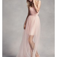 Bridesmaid Dress with Illusion Overskirt - Davids Bridal