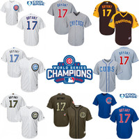 2016 World Series Champions patch Youth chicago cubs #17 Kris Bryant kids Authentic baseball jersey Embroidery logos stitched size S-XL