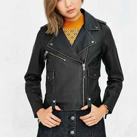 Members Only Vegan Leather Jacket