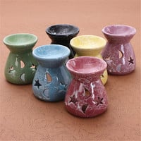 Newest Ceramic Fragrance Oil Burners Lavender Aromatherapy Scent Candle Essential Gift In ceramica Candle