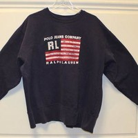 Ralph Lauren // Polo Jeans Co // Sweatshirt // Flag // Pullover // Crew Neck // Vintag