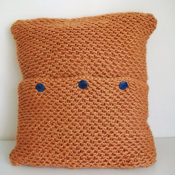 Chunky Pillow Cover Knitting Pattern 24x24