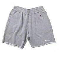 Champion Contracted sport woolly shorts men and women together  Gray