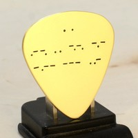 Morse Code Brass Guitar Pick with Personalized Message – I Pick You