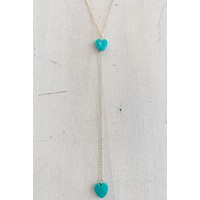 CNJ Turquoise Heart Lariat