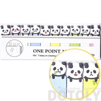 Tiny Panda Bear Shaped Animal Themed Sticky Post-it Memo Bookmark Tabs