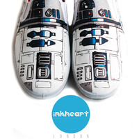 Custom Shoes R2D2 by InkHeartKicks on Etsy