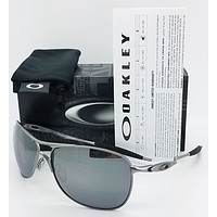 NEW Oakley Crosshair sunglasses Lead Black Polarized cross wire 4060-06 GENUINE