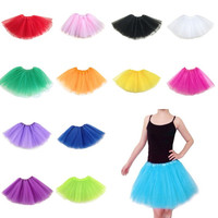 Woman Ladies Fancy Dancewear Tutu Princess Party Skirts Mini Dress Multi-colour = 1946024900