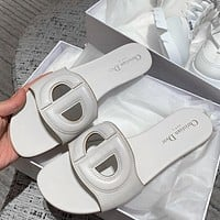 DIOR D-club sandals slippers Shoes White