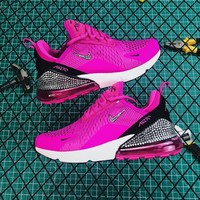 Nike Air Max 270  Rose Red Black Diamond Running Shoes - Best Online Sale
