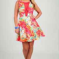 Blow You A Kiss Dress: Multi