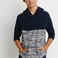 Marled Colorblock Sweater Hoodie (Kids)