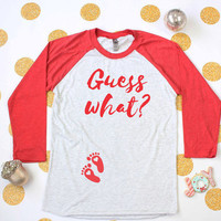 Holiday Pregnancy Announcement Shirt