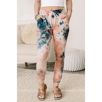 Steady Loungin' Soft Brushed Tie Dye Jogger Pants