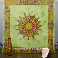Hippie Tapestries, Indian Astrology Tapestry, Tapestry Wall Hanging, Wall Tapestries, Bohemian Tapestries, Boho Bed Spread, Dorm Bedding