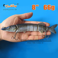 8'' 66g Isca Artificial Fishing Lure Pesca Swimbait Pike Muskie Hard Lures Treble Hook Crankbait Fishing Tackle Bait