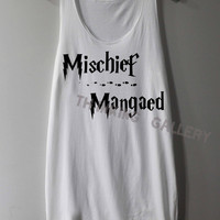 Mischief Managed Shirt Harry Potter Map Shirts Tank Top Tunic TShirt T Shirt Singlet - Size S M L