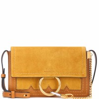 Faye Small suede and leather crossbody bag