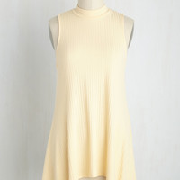 Pasticceria Preference Top in Lemon Cream | Mod Retro Vintage Short Sleeve Shirts | ModCloth.com